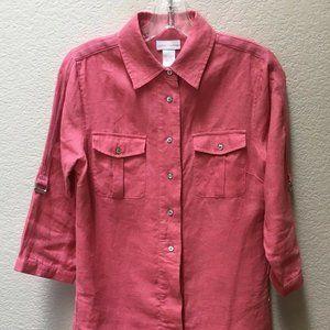 Soft Surroundings Linen Blouse Shirt